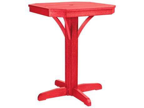 C.R. Plastic St. Tropez  28 Square Counter Table