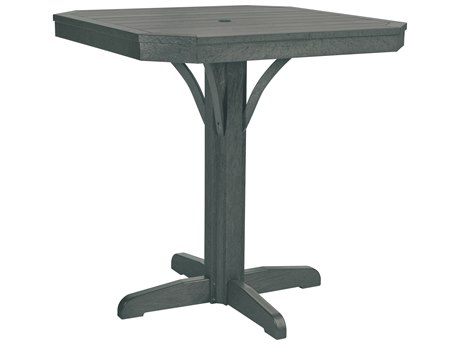 C.R. Plastic St. Tropez 35 Square Counter Table