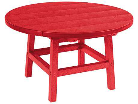 C.R. Plastic Generation Recycled Plastic 32 Round Cocktail Table with Legs