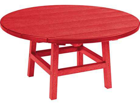 C.R. Plastic Generation Recycled Plastic 37 Round Cocktail Table with Legs