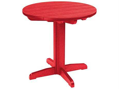 C.R. Plastic Generation Recycled Plastic 32 Round Dining Pedestal Table