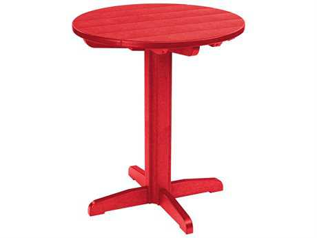 C.R. Plastic Generation Recycled Plastic 32 Round Pub Height Pedestal Table