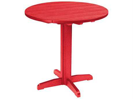 C.R. Plastic Generation Recycled Plastic 37 Round Pub Height Pedestal Table