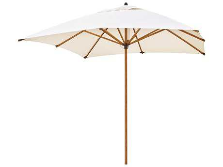 C.R. Plastic 9' 6 Square Push-up Lift Bamboo Umbrella