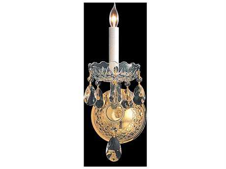 Crystorama Traditional Crystal Polished Brass Wall Sconce