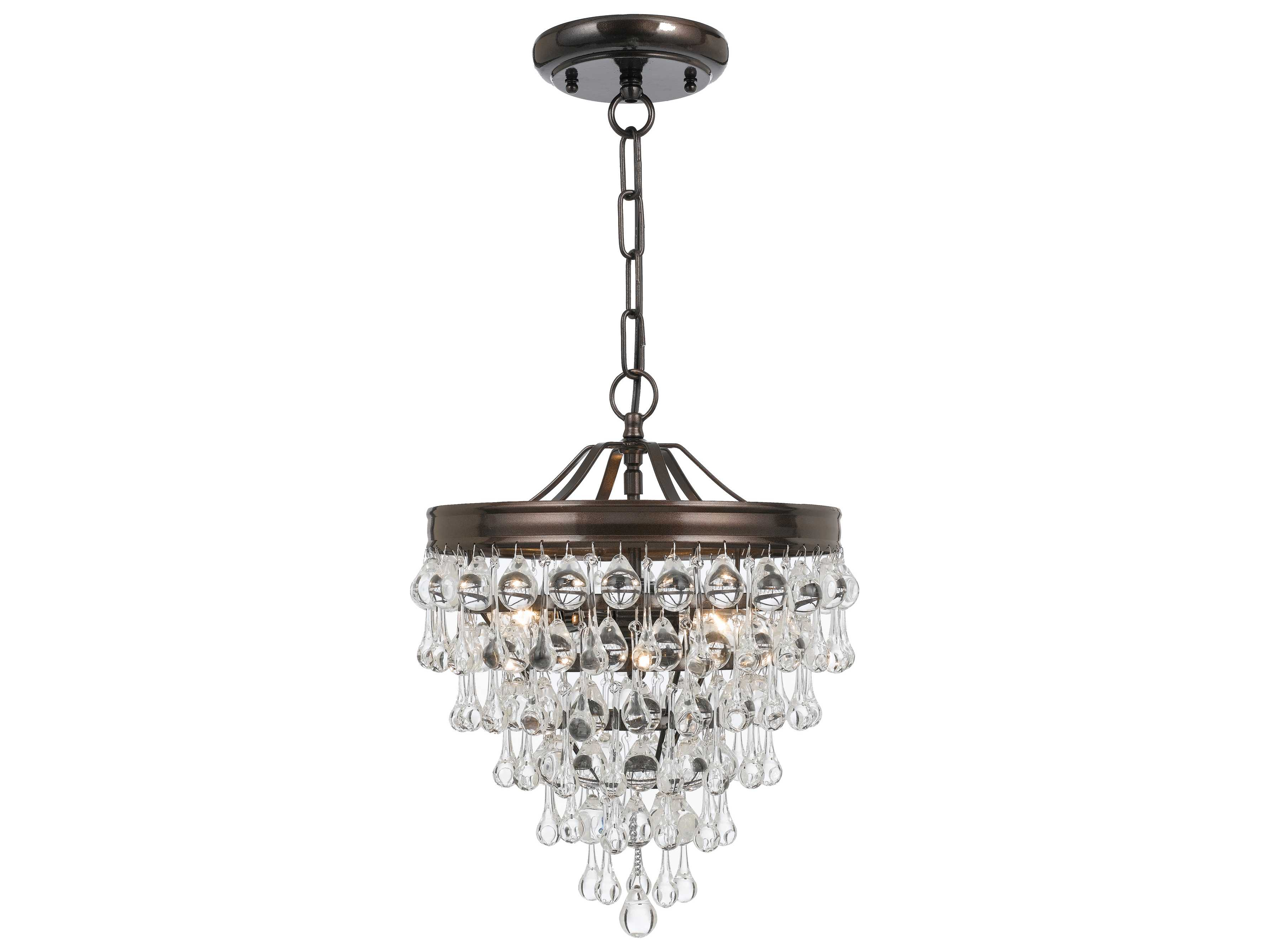 Crystorama Calypso Three Light Pendant Light