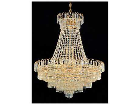 Crystorama Empire II Gold 24-Light 58'' Wide Grand Chandelier