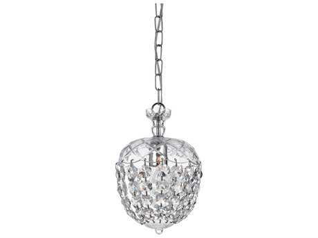 Crystorama Celia Polished Chrome Pendant Light