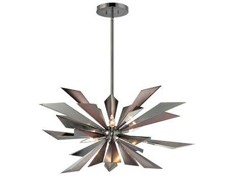 Crystorama Galaxy Midnight Chrome Seven-Light Pendant Light