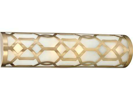 Libby for Crystorama Libby For Crystorama - Jennings 4 Light Aged Brass Vanity Light