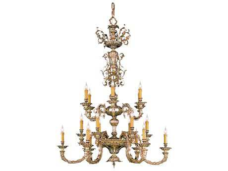 Crystorama Novella Olde Brass 18-Light 40'' Wide Grand Chandelier