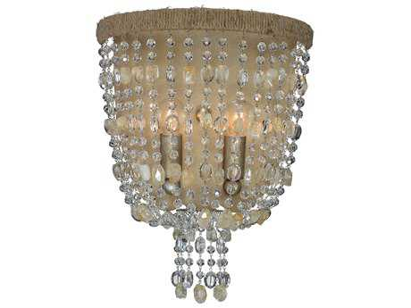 Crystorama Eva Burnished Silver Two-Light Flush Mount Light