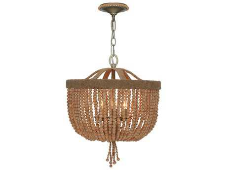 Crystorama Eva Burnished Silver Three-Light 16'' Wide Chandelier