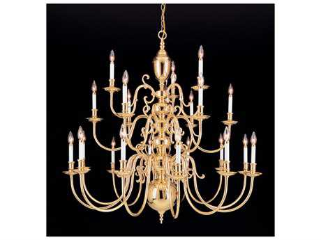 Crystorama Hot Deal Polished Brass 48-Light 96'' Wide Grand Chandelier