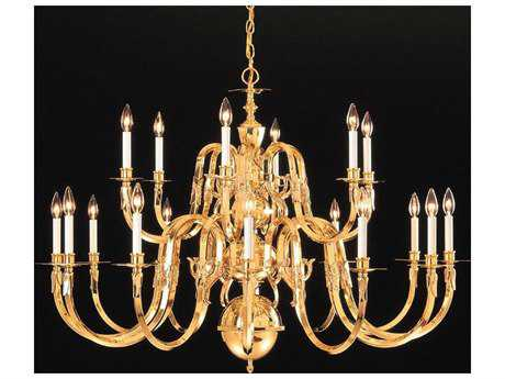 Crystorama Polished Brass 21-Light 60'' Wide Grand Chandelier