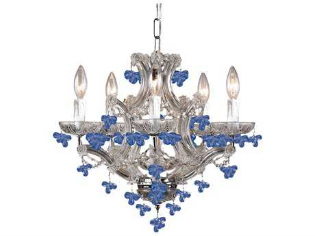 Crystorama Maria Theresa Five-Light 18'' Wide Mini Chandelier