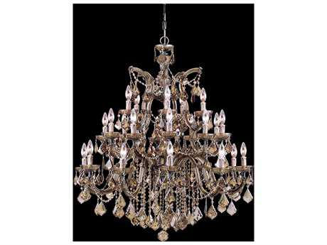 Crystorama Maria Theresa Antique Brass 26-Light 38'' Wide Grand Chandelier