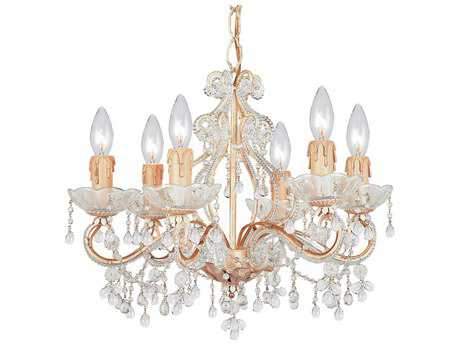 Crystorama Paris Market Champagne Six-Light 18'' Wide Mini Chandelier
