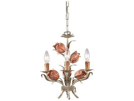 Crystorama Southport Three-Light 14'' Wide Mini Chandelier