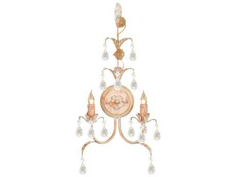 Crystorama Athena Champagne Two-Light Wall Sconce