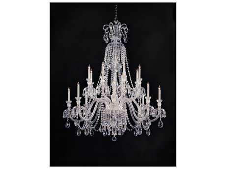 Crystorama Traditional Crystal Polished Chrome 16-Light 56'' Wide Grand Chandelier