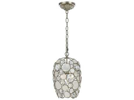 Crystorama Palla Antique Silver Pendant Light