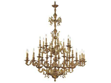 Crystorama Yorkshire Aged Brass 32-Light 44'' Wide Grand Chandelier