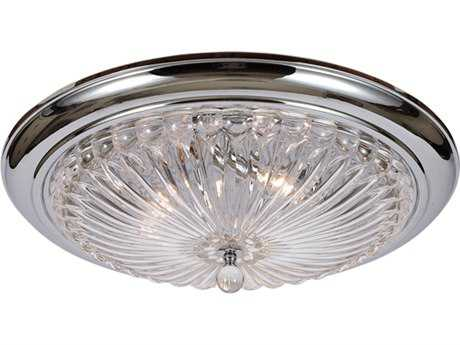 Crystorama Ceiling Mount Polished Chrome Three-Light Flush Mount Light