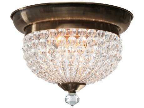 Crystorama Newbury Two-Light Flush Mount Light