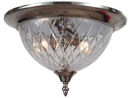 Crystorama Avery Polished Chrome Three-Light Flush Mount Light