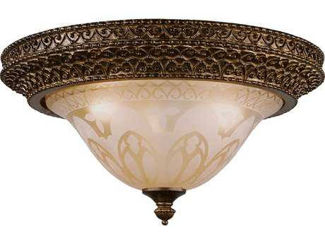 Crystorama Norwalk Bronze Umber Three-Light Flush Mount Light