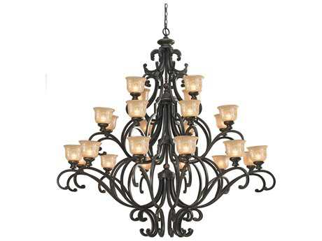 Crystorama Norwalk Bronze Umber 24-Light 64'' Wide Grand Chandelier