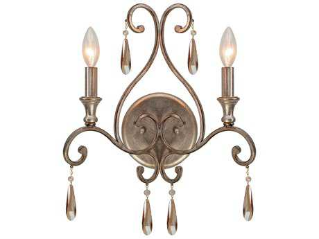 Crystorama Shelby Distressed Twilight Two-Light Wall Sconce