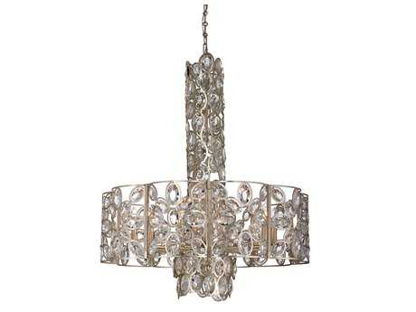 Crystorama Sterling Distressed Twilight Ten-Light 29.25'' Wide Pendant Ceiling Light with Hand Cut Crystals