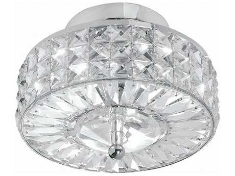 Crystorama Chelsea Polished Chrome Three-Light Semi-Flush Mount Light