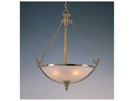 Crystorama Hot Deal Polished Brass Four-Light 24.5'' Wide Pendant Ceiling Light with Alabaster Glass Shade