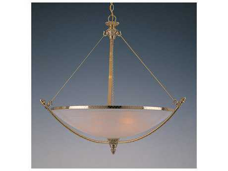 Crystorama Hot Deal Polished Brass Six-Light 32'' Wide Pendant Ceiling Light with Alabaster Glass Shade