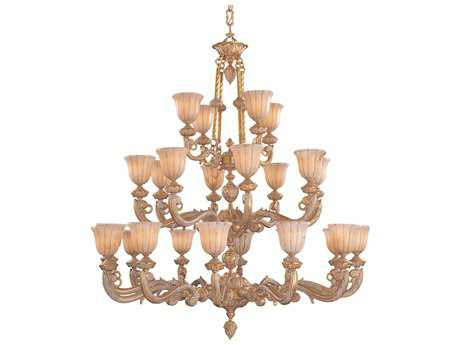 Crystorama Natural Alabaster 24-Light 48'' Wide Grand Chandelier