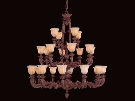 Crystorama Natural Alabaster 24-Light 60'' Wide Grand Chandelier