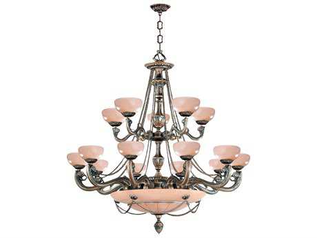 Crystorama Natural Alabaster 15-Light 48'' Wide Grand Chandelier
