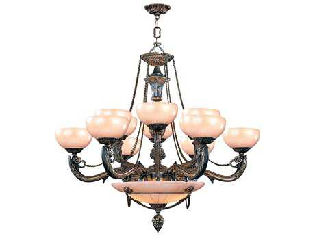 Crystorama Natural Alabaster 12-Light 40'' Wide Grand Chandelier
