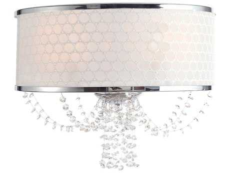 Crystorama Allure Polished Chrome Two-Light Wall Sconce