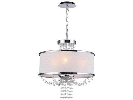 Crystorama Allure Polished Chrome Three-Light 14'' Wide Mini Chandelier
