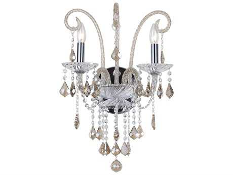 Crystorama Simone Polished Chrome Two-Light Wall Sconce