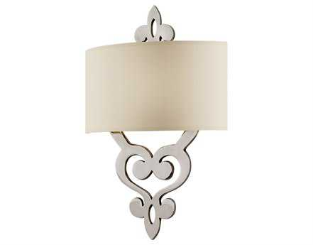 Corbett Lighting Olivia Two-Light Polished Nickel Wall Sconce