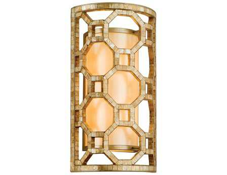 Corbett Lighting Regatta Two-Light Stained Silver Leaf Wall Sconce