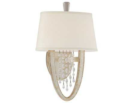 Corbett Lighting Viceroy Two-Light Antique Silver Leaf Wall Sconce