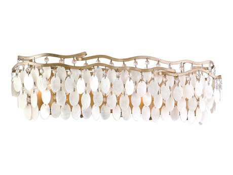 Corbett Lighting Dolce Five-Light Champagne Leaf Bath Light