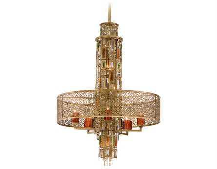 Corbett Lighting Riviera Ten-Light Riviera Bronze Pendant