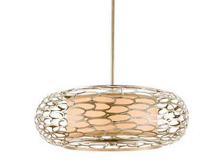 Corbett Lighting Cesto Five-Light Modern Silver Pendant